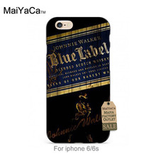 MaiYaCa soft black tpu siliconeClassic Whiskey Johnnie Walker Blue Label phone Cover For iPhone se 5s 6s 7 plus case(China)