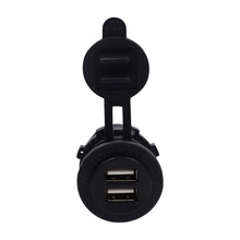 12V Car Motorcycle Waterproof Cigarette Lighter Dual USB Automobiles Power Socket Outlet Car-styling Universal Black New 2017