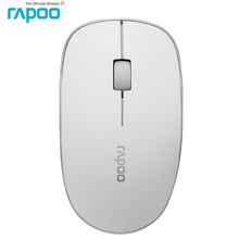 Original Rapoo Portable Slim 3D Optical Wireless Mouse for Macbook Apple PC &Windows Laptop Computer office home gaming mice(China)