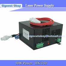 HY50w Co2 Laser Power Supply 50W  220V/110V  used for Co2 Laser Tube 50W for Co2 Laser Cutting and Engraving  Machine
