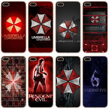 G237 Resident Evil Umbrella Transparent Hard Thin Case Cover For Apple iPhone 4 4S 5 5S SE 5C 6 6S 7 8 X Plus