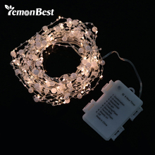 6m 60-LED Pearl Copper Wire String Light Warm White Fairy Lights for Craft Glass Bottle Valentines Wedding Decoration Christmas(China)
