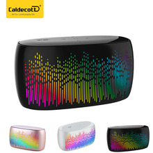 Fashion Colorful lights Wireless Bluetooth Speakers Touch Control Stereo Bass Music Player LED Spectral Lamp Effects Subwoofer