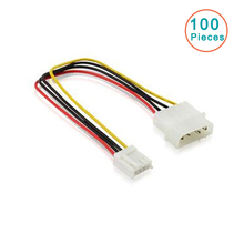 100pcs New 4 Pin IDE Power Supply to Floppy Drives Adapter Cable Computer PC Big 4p Small 4p Power Cord Floppy Drive Connector