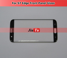 Original Front Screen for Samsung Galaxy S7 Edge Outer Glass Lens Panel with Logo (NO Digitizer)