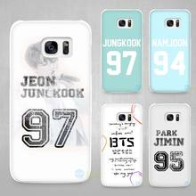 Bangtan BTS Number Hard White Coque Shell Case Cover Phone Cases for Samsung Galaxy S4 S5 S6 S7 Edge Plus(China)