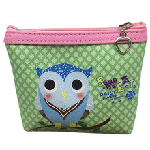 2017 Hot Sale Womens Owl Wallet Card Holder Coin Purse Clutch Handbag Wallet Ladies' Clutches Short Change Purses Card Holders