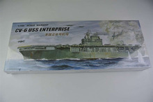 30CM Warship CV-6 USS Enterprise Aircraft Carrier Plastic Assembly Model Electric Toy XC80902