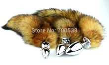 Fox Tail Plug butt plug Metal anal Plug Anal Tail Sex Toy 35cm tail sex games Role play Drop shipping(China)