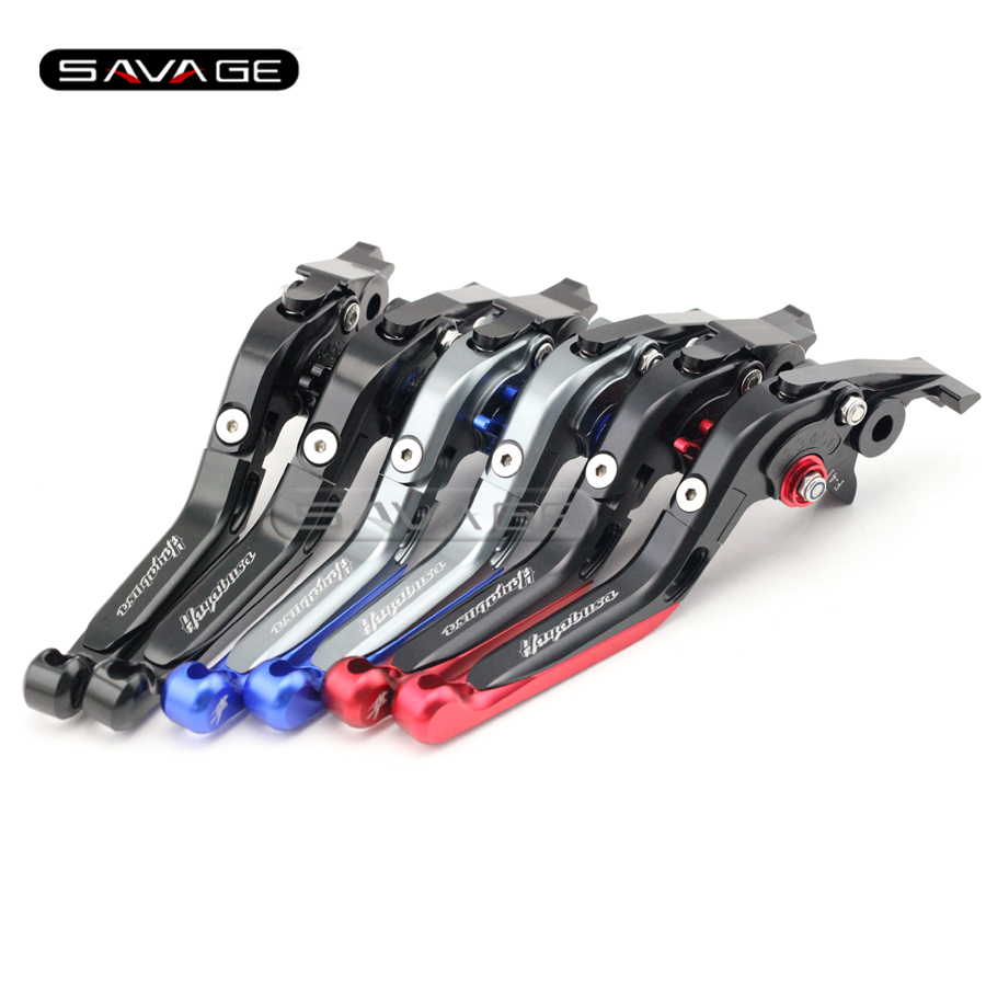 For SUZUKI GSX1300R HAYABUSA 1999-2007 Motorcycle Accessories Adjustable Folding Extendable Brake Clutch Levers logo<br>