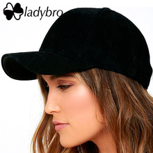 Ladybro High Quality Women Dad Hat Baseball Cap Men Hat Cap Pink Hat Fashion Corduroy Casual Unisex Black Snapback Cap Female