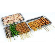 1pcs  Brand new BBQ Tools Stainless Steel Food Plate Grill Barbecue Plate  - Silver