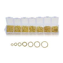 Doreen Box Lovely 1 pack GP Open Jump Rings 3mm-9mm(1780 PCs Assorted) (B09843)(China)