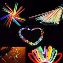100pcs Wholesale Glow Light Copious Sticks Bracelet Flexible Bend Light Multi Colorful Neon Stickers Party Supplies