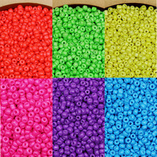 New Arrival 3MM 40g/bag Neon Color Opaque Glass Seed Beads Loose Spacer Bead for Diy Jewelry Making Findings 7 Colors(China)