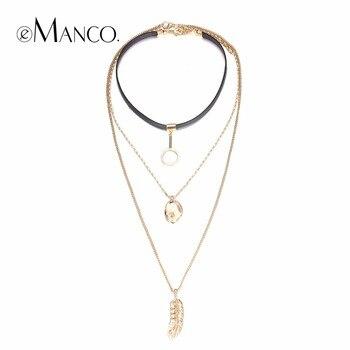 EManco Mode Mash Up Multicouche Colliers pour les Femmes En Métal Long Pendentifs Collier Charme Couples Accessoires Bijoux