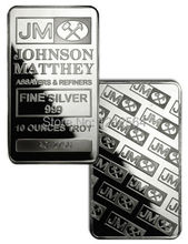 100 PCS/lot 1 Tory Oz Johnson Matthey Silver Bullion Bar Non Magnetic Brass Core Plating Silver Coin Bar with serial number
