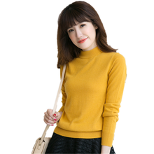 Autumn and winter spring, wool cashmere sweater, ladies sweater and sweater, fashion lady O collar sweater, solid color long sle
