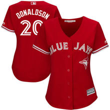 MLB Women's Toronto Blue Jays Josh Donaldson White Home Cool Base Player Jersey-(China)