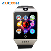 Q18 Bluetooth Smart Wrist Watch Phone Q18S With Camera TF SD SIM Card Slot Sleep Monitor Sedentary Reminder Record For iOS Men(China)