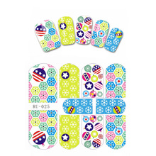 UPRETTEGO NAIL ART BEAUTY WATER DECAL SLIDER NAIL STICKER USA NATIONAL FLAG XMAS CHRISTMAS SNOW FLAKE BLUE SKY RU025-030