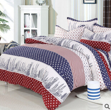 Perfect Quality Bedding Set 100% Cotton Bed Set Floral/Stripe/Plaid Print Bedding Comfortable Bed Cover Comforter Free Shipping
