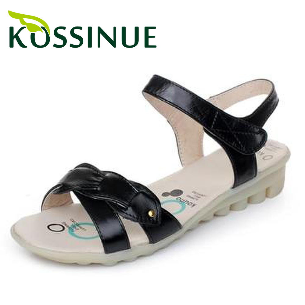 Plus size(35-43) women genuine leather sandals 2014 new arrival female flat sandals for women sandals shoes 3 colors<br><br>Aliexpress