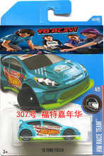 New Arrival 2017 Hot Wheels GREEN FORD FIESTA Metal Diecast Cars Collection Kids Toys Vehicle For Children