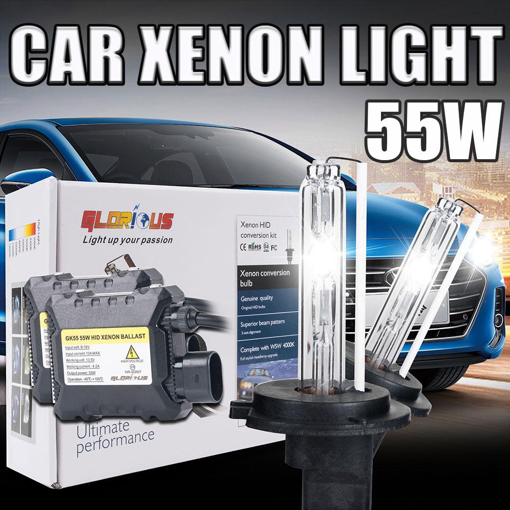 xenon H7 kit Xenon Hid Kit 55W H4-1 H1 H3 xenon H7 H8 H10 H11 H27 HB3 HB4 9005 9006 Car light source Headlight bulbs lamp<br><br>Aliexpress