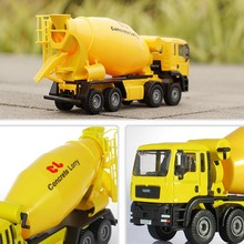KDW 1:50 Scale Diecast Cement Mixer Truck Construction Vehicle Transport Car Carrier Truck Toy Model Cars
