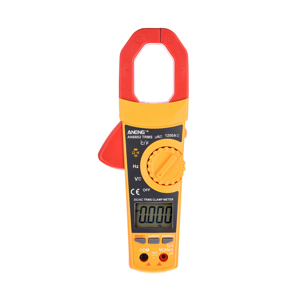 AN8802 LCD Digital Clamp Meters Multimeter With Temperature Measurement AC/DC Voltage Tester Current Resistance Multi Test<br>
