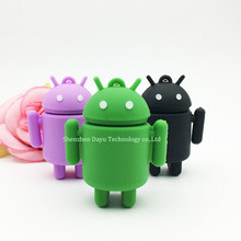Full capacity cartoon usb Android Robot mini usb drives 4GB/8GB/16GB/32GB flash memory pendrives plastic usb flash drive thumb