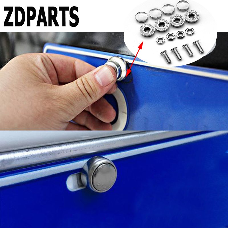 ZDPARTS 16X Car Styling License Plate Nuts Bolts Screws Cover Mercedes Benz W203 W204 211 AMG Smart Starline A93 Citroen C4