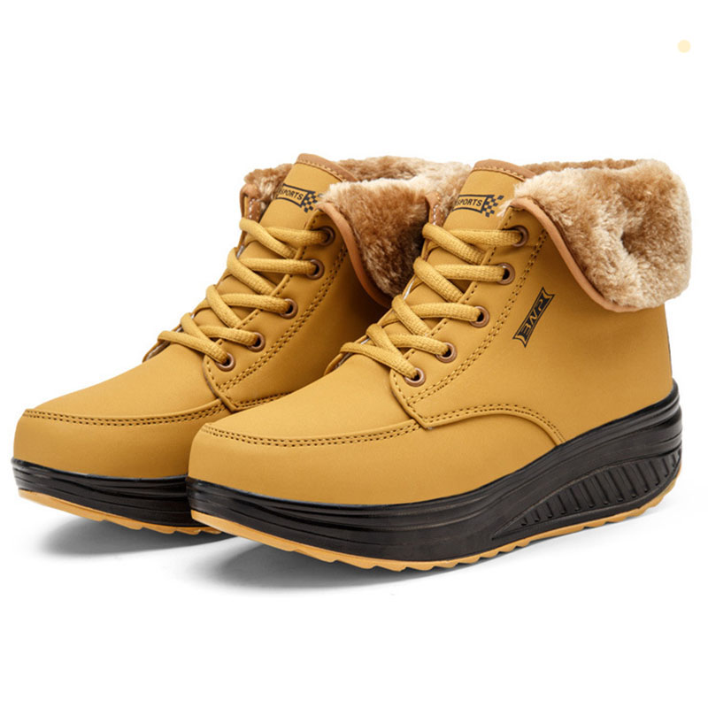 Winter Female shoes Swing women boots for winter Snow Platform ankle Boots Women Thermal Cotton-padded women Shoes winter  Boots<br>