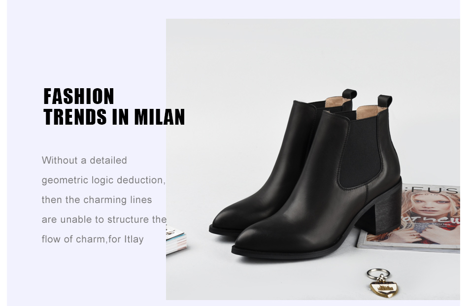 Donna-in 2017 new style genuine leather ankle boots pointed toe thick heel chelsea boots calf leather women boots ladies shoes 96350-17 (15)