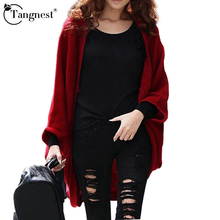 TANGNEST 2016 New Fashion Women Casual Knitted Sweater Long Sleeve Coat Jacket Outwear Tops Cardigan Female WZL626(China)