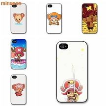 minason One Piece Tony Tony Chopper Cover case for iphone 4 4s 5 5s 5c 6 6s 7 8 plus samsung galaxy S5 S6 Note 2 3 4 S2136(China)