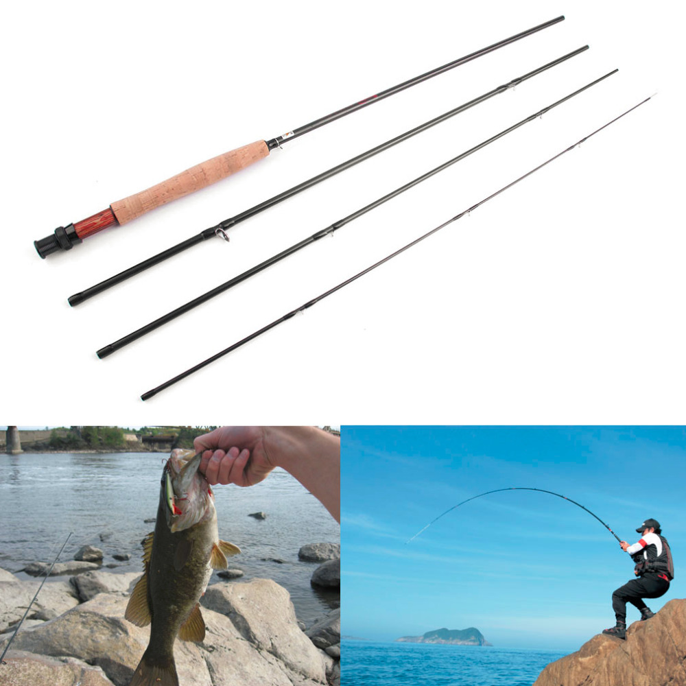 Sales Promotion Hot Outdoor Fish Rod Spinning 4 Sections Fishing Tackle Fly Fishing Pole Gear Rod Wholesale 2.7m Fish Gear Rod<br>