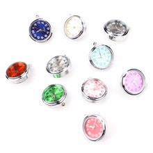 1pcs/lot 10 Colorful Watch Snaps Button With Stainless Steel  Bottom For Snaps Bracelets Fit Ginger Snaps Jewelry