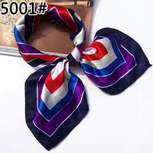 Soft Faux Silk Square Scarf Bandanas Head Wrap Shawl Satin Stewardess Kerchief