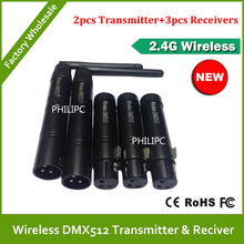 DHL Free Shipping   long range wireless 2.4G Wireless DMX controller transmitter,receiver,LED transceiver