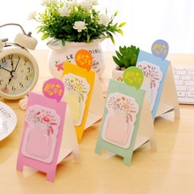 1packs/lot Kawaii vase design Standing convenient Memo Sticky Pad Notes students gift prize office school Stationery supplies