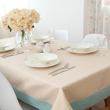 Jo's warm Vian Table Cloth Luxury Peony Rose Round Rectangle Coffee Dining Decor Cover Polyester Faux linen Jacquard Tablecloth