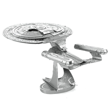 3D Metal Puzzles, Star Trek USS Enterprise NCC-1701D, DIY Metal Scale Miniature Model Kids Puzzle, Intelligent Educational Toys