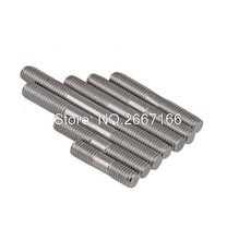 UXCELL M12 X 80Mm 304 Stainless Steel Double End Thread Stud Teeth Rod 5Pcs(China)