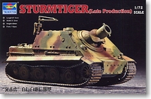 "Trumpeter 1/72 scale model 07247 6 heavy raid car""assault tiger"" late type(China)"