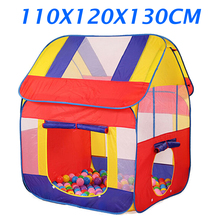 Ultralarge kids tent play house childrens pop up play tent house baby kids indoor outdoor toy tent child birthday gifts ZP42(China)