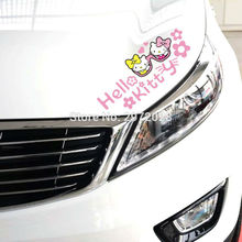 10 x Newest Design Hello Kitty with Glasses Auto Decal Set Cartoon Car Eyebrows Car Sticker Car Bumper Body Decal Pattern Vinyl
