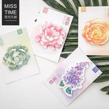 The Flower Season Mini Memo Pad Sticky Notes Escolar Papelaria School Supply Bookmark Post it Label