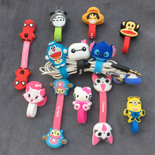 Cartoon Cable Organizer Wire Cord Management  Bobbin Winder Protector Marker Holder Cover For Earphone iPhone Sansung MP3 USB